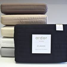 Quilted Bed Valance Best Price Linen Quilted Microfibre Valances By Ardor Bed