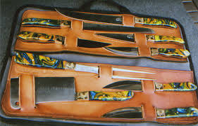 Used Kitchen Knives For Sale Model 805 A Master Chef U0027s 9 Piece B B Q Knife Set Sunrise River