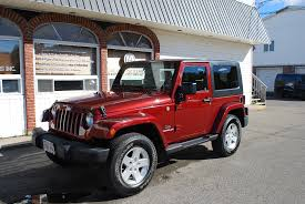 jeep wrangler 4 door maroon used 2009 jeep wrangler 4wd manual transmission rocky mountain