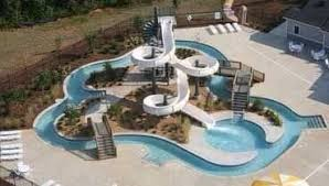 Backyard Pool With Slide Swimming Pool With Water Slide Something For The Backyard