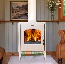 modern design enamel wood fireplace cast iron stove decorative