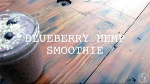 blueberry hemp smoothie vegan healthy food