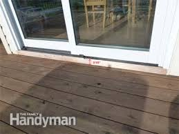 Patio Door Sill How To Build A Deck Prevent Rot At The Patio Door Family Handyman