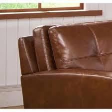 Top Grain Leather Sectional Sofa Sofaweb Com Inc Meadows Brown Curved Top Grain Leather Sectional