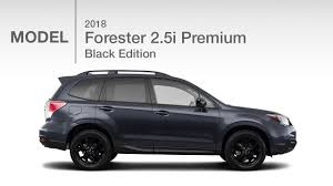 black subaru 2018 subaru forester 2 5i black edition model review youtube
