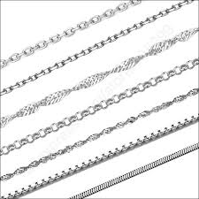 silver necklace types images Stock 24hours ship 100pcs necklaces mix 10 styles 925 sterling jpg