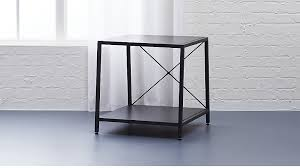 Dark Grey Nightstand Harvey Carbon Grey Nightstand Cb2