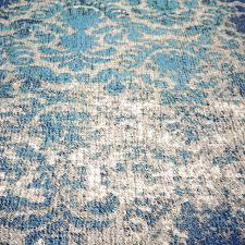 Damask Print Rug Distressed Damask Wool Rug U2013 Blue Lagoon West Elm