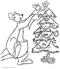 disney characters coloring pages christmas