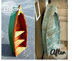 Boat Shelf Bookcase Coastal Décor Is Trending Boat Bookshelf Makeover The Diy