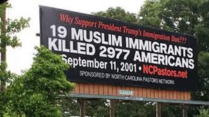North Carolina travel ban images Nc billboard supporting trump travel ban ignites controversy with jpg