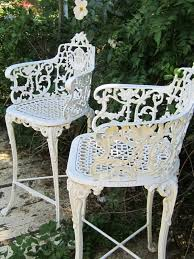 white wrought iron patio furniture painting regarding awesome