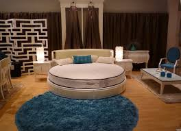 Modern Circular Rugs Bedroom Awesome Bedroom With White Bed And Blue