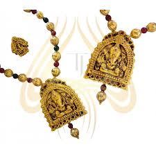 pendant necklace set images Stunning ganesh pendant necklace set jpg
