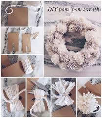 Winter Wonderland Diy Decorations - winter wonderland pom pom wreath wreaths winter and craft