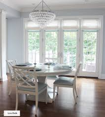 Dining Room Doors Dining Room French Doors Roman Shades In Linen With Samuel And