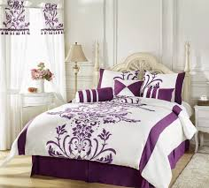 White Home Decor by Purple And White Bedroom Home Planning Ideas 2017