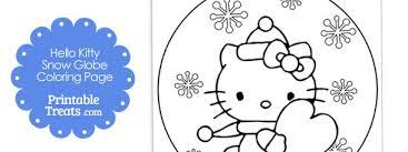 kitty snow globe winter coloring u2014 printable treats