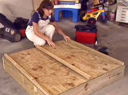 How To Make A Platform Bed With Plywood by How To Build A Sandbox How Tos Diy