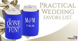 practical wedding favors practical wedding favors list odyssey custom designs