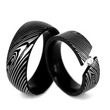 black wedding rings his and hers cheap stainless steel wedding rings kingswayjewelry