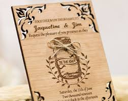 wooden wedding invitations wooden wedding invitation suite rustic wedding invitations