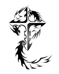 tattoo cross dragon tribal dragon cross tattoo design