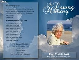 Memorial Pamphlets Samples Memorial Brochure Template Program Template Memorial Service