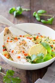 baked haddock with herb couscous green healthy cooking
