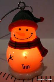 tim ganz globe snowman ornament personalized name