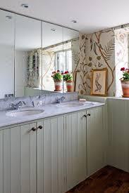 floral wallpaper tongue u0026 groove small bathroom design bathroom
