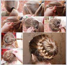 put your hair in a bun with braids musely