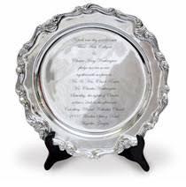 engraved platters modern wedding photo frame engravable signature platters
