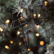 buy bloomingville diamond christmas tree decoration black set
