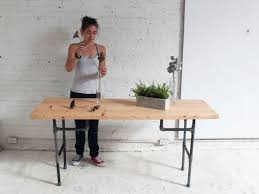 Industrial Standing Desk by Furniture 98 Easy To Make Diy Desk Diy Industrial Standing Desk