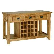 tuscany solid oak hallway furniture console hall table with wine