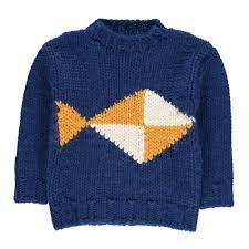 fish sweater fish jumper blue bobo choses fashion baby children