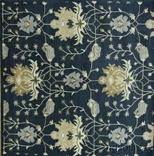 Square Area Rugs 10 X 10 Handmade Floral Blue Square 10x10 Oushak Oriental Area Rug Wool Carpet