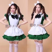 cute anime halloween aliexpress com buy cute green maid cosplay costume work wear