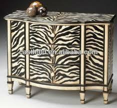 cf30102 zebra print console cabinet accent drawer zebra chest