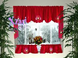 Kitchen Curtains Red by Curtains With Red Trim Red Kitchen Curtains2 Kitchen Curtains For