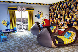 bedroom amazing disney buzz lightyear themed bedroom with brown fantastic despicable me themed kids bedroom grey wood despicable me toddler bed yellow fabric windows curtain