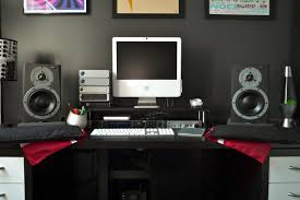 Studio Monitor Desk by What Type Of Speakers Tower Monitor Powered Do You Use In Your