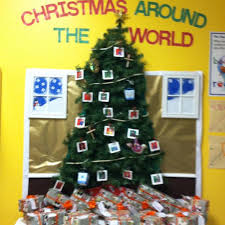 around the world tree bulletin board