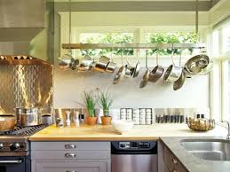 Kitchen Island With Hanging Pot Rack Uncategorized Hanging Pot And Pan Rack Inside Awesome Beautiful