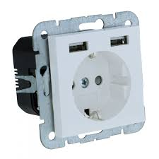 ls with usb outlets 2usb wall socket usb model 55 glossy white 2100ma