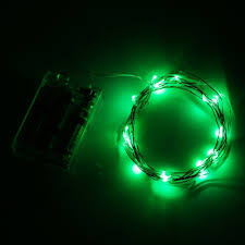 supernight green 2m 7ft 20 led copper wire starry lights string