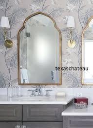 modern gold arched moroccan wall mirror foyer bathroom arch vanity