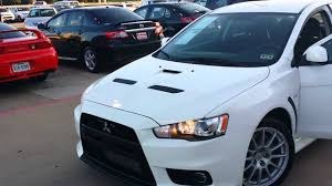 mitsubishi evo white 2011 mitsubishi lancer evo gsr white w s u0026s under 14k miles youtube