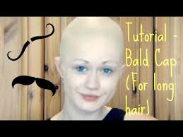 professional bald cap tutorial bald cap for hair shows marvin s